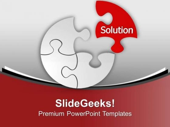 Right Solution To Solve Problem PowerPoint Templates Ppt Backgrounds For Slides 0313