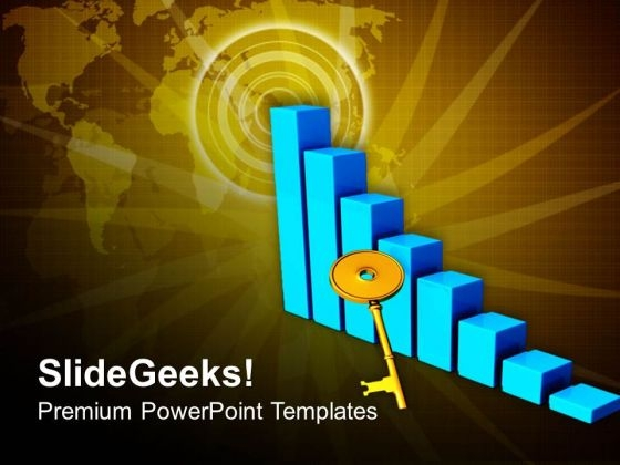 Risign Graph Key Illustration PowerPoint Templates Ppt Backgrounds For Slides 0813