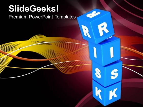 Risk Concept With Blue Cubes Business PowerPoint Templates And PowerPoint Themes 0912