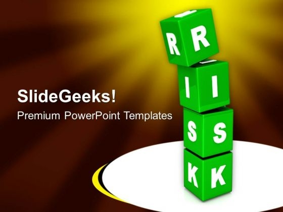 Risk Cubes Business Concept PowerPoint Templates Ppt Backgrounds For Slides 0213