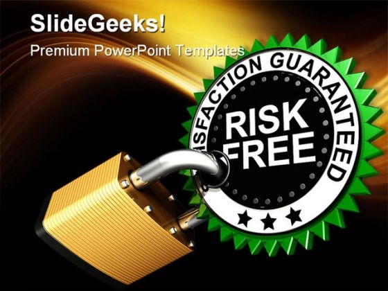 Risk Free Security PowerPoint Backgrounds And Templates 1210