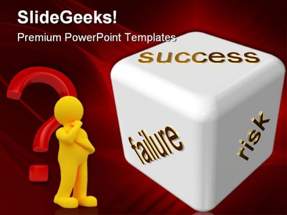 Risky Business Success PowerPoint Templates And PowerPoint Backgrounds 0211
