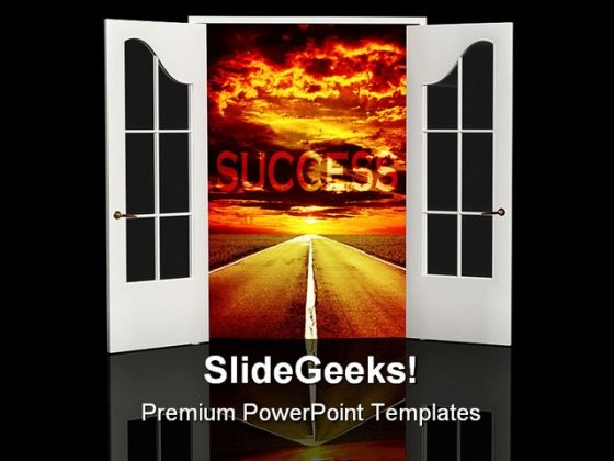 Road Of Success Business PowerPoint Themes And PowerPoint Slides 0511
