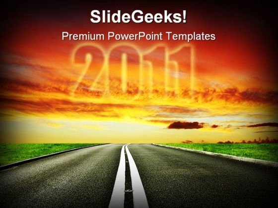 Road To Ahead2011 Future PowerPoint Themes And PowerPoint Slides 0211