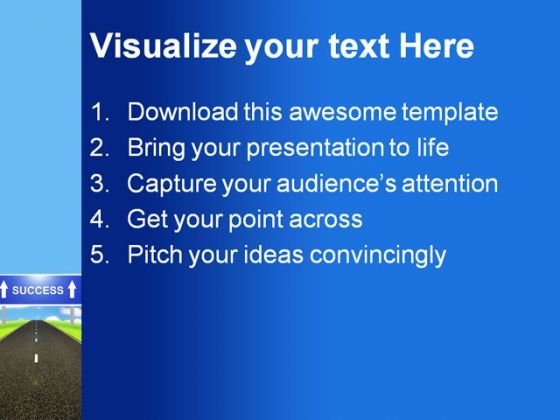 road_to_success_business_powerpoint_themes_and_powerpoint_slides_0411_text