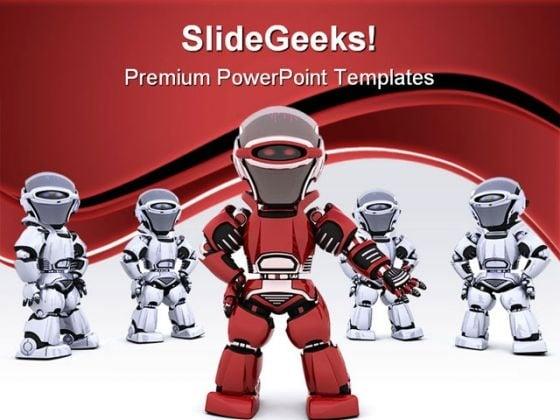 Robot leading team leadership powerpoint templates and powerpoint robot leading team leadership powerpoint templates and powerpoint backgrounds 0711 powerpoint themes toneelgroepblik Image collections