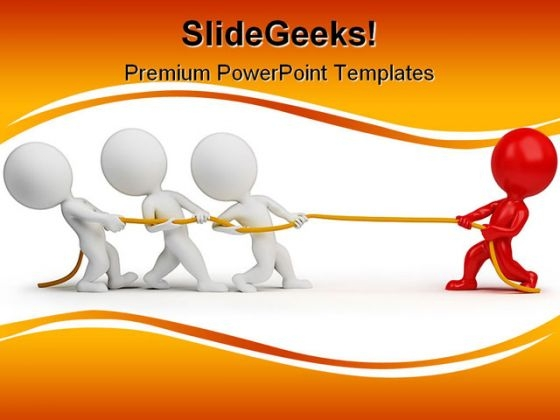 Rope Pulling People Teamwork PowerPoint Backgrounds And Templates 1210