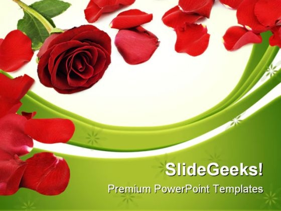 Rose Border Beauty PowerPoint Themes And PowerPoint Slides 0711