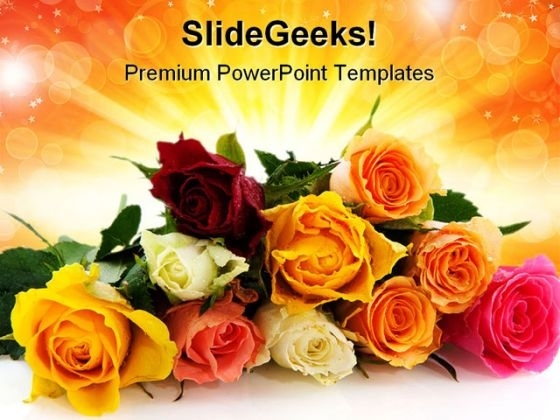 Roses Beauty PowerPoint Themes And PowerPoint Slides 0411