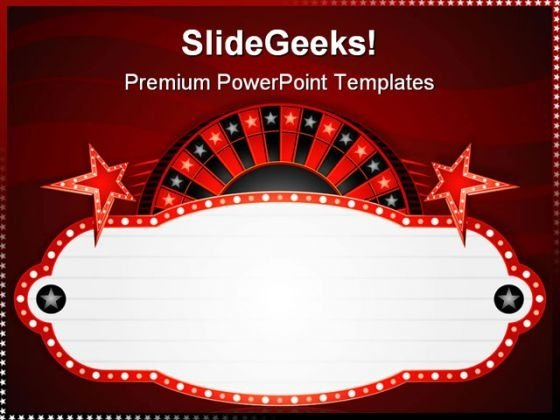 roulette neon sports powerpoint templates and powerpoint, Powerpoint templates
