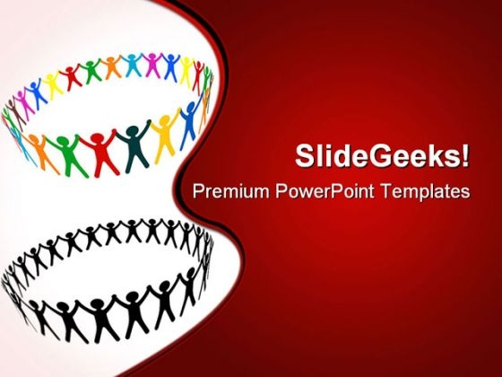 Round Of Peoples Communication PowerPoint Themes And PowerPoint Slides 0611