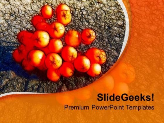 Rowenberries With Orange Background PowerPoint Templates Ppt Backgrounds For Slides 0613
