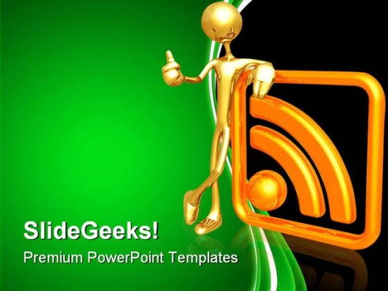 Rss Networking Symbol PowerPoint Templates And PowerPoint Backgrounds 0811