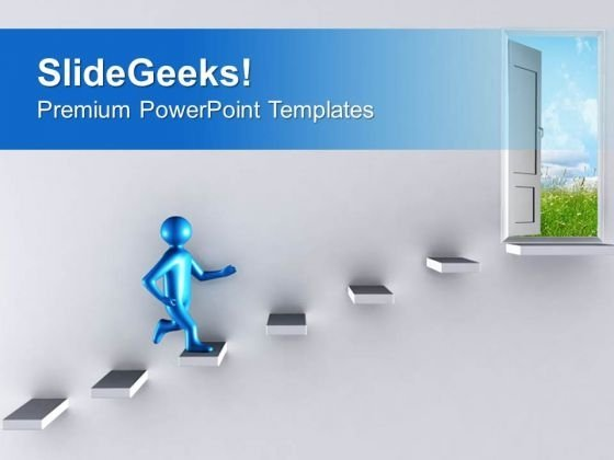 Run Towards The Opportunity PowerPoint Templates Ppt Backgrounds For Slides 0713