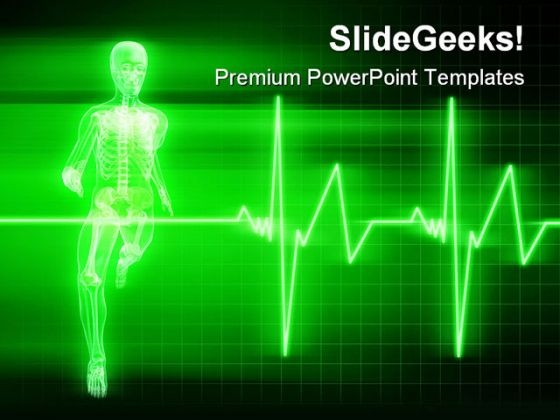 Running Heart Beat Medical PowerPoint Themes And PowerPoint Slides 0211