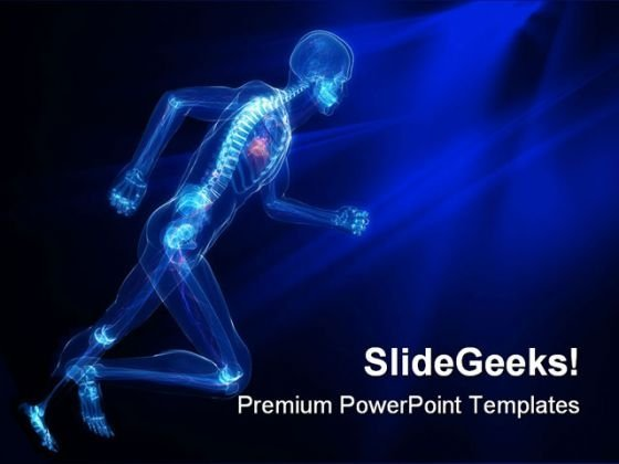 Running Skeleton Vascular Medical PowerPoint Themes And PowerPoint Slides 0811