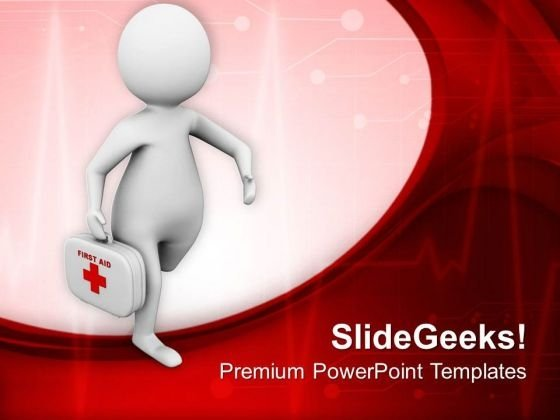 Running To Give Medical Aid PowerPoint Templates Ppt Backgrounds For Slides 0513
