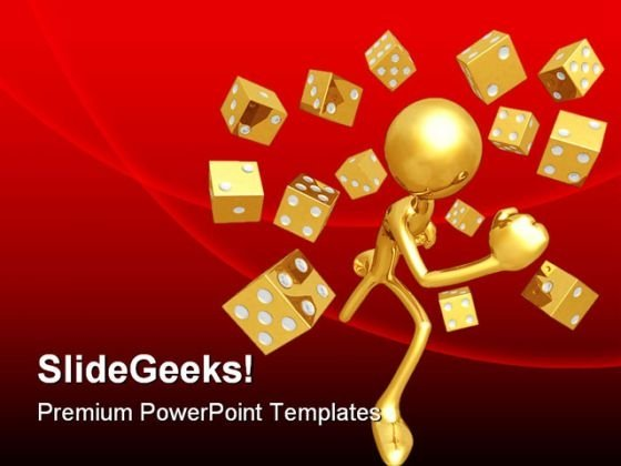 Running With Dice Symbol PowerPoint Themes And PowerPoint Slides 0811