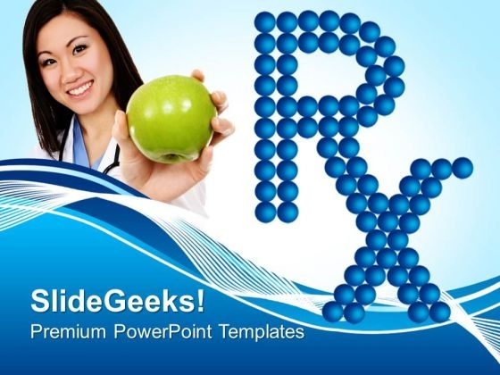 Rx Medical Symbol PowerPoint Templates And PowerPoint Themes 0812