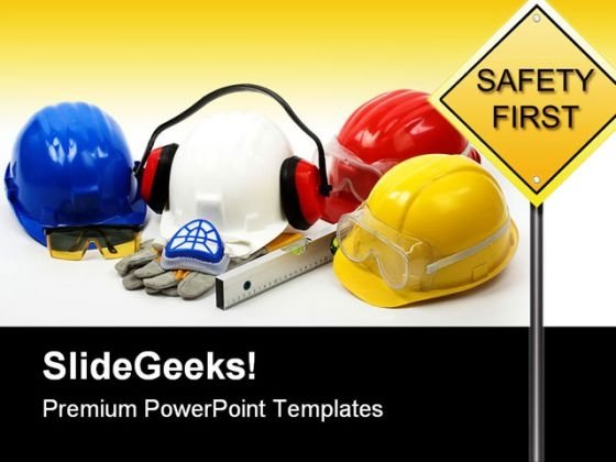 Safety Concept Construction PowerPoint Backgrounds And Templates 1210