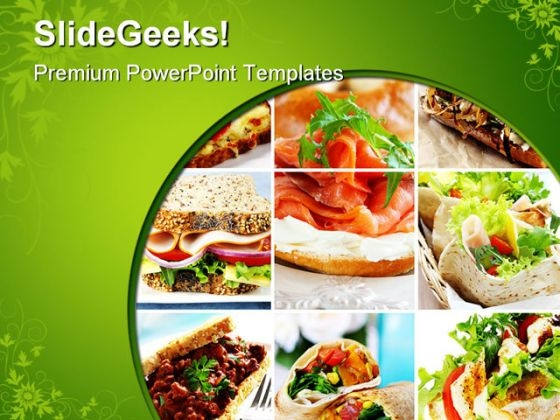 Salad Collage Food PowerPoint Themes And PowerPoint Slides 0311