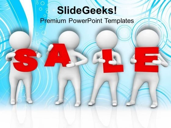 Sale 3d Text Illustration PowerPoint Templates Ppt Backgrounds For Slides 0813