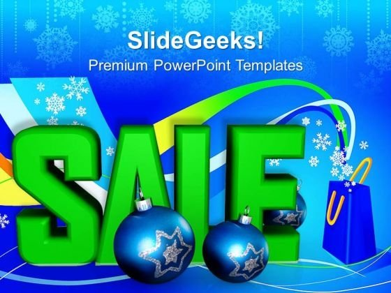 Sale And Ornaments Christmas Shopping PowerPoint Templates Ppt Backgrounds For Slides 1112