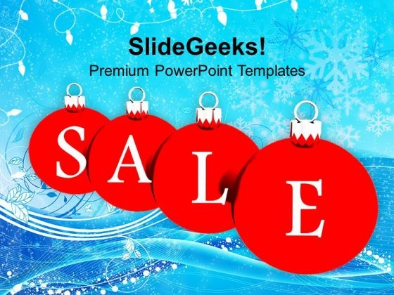 Sale Christmas Baubles Holidays PowerPoint Templates Ppt Backgrounds For Slides 1112