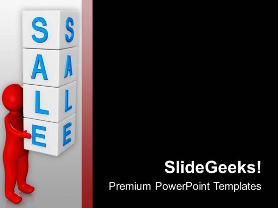 Sale Cubes With 3d Man PowerPoint Templates Ppt Backgrounds For Slides 0713
