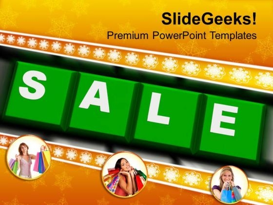 Sale On Keyboard Shopping PowerPoint Templates Ppt Backgrounds For Slides 1112