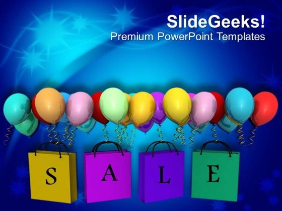 Sale Theme With Balloons PowerPoint Templates Ppt Backgrounds For Slides 0413