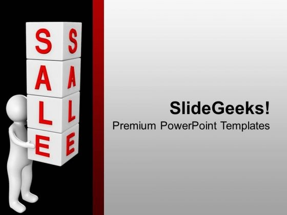 Sale Word On Cubes PowerPoint Templates Ppt Backgrounds For Slides 0713