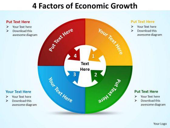 Sales Diagram 4 Factors Of Economic Diagram Growth Business Cycle Diagram