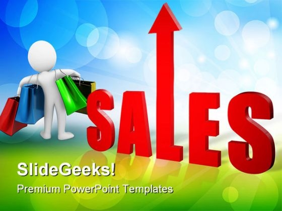 Sales Rises Business PowerPoint Templates And PowerPoint Backgrounds 0811