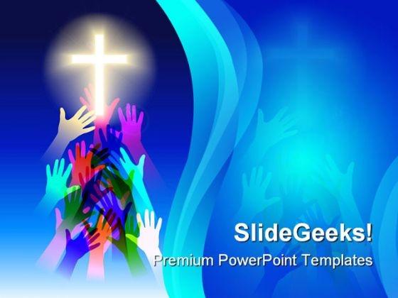 Salvation Religion PowerPoint Template 0610
