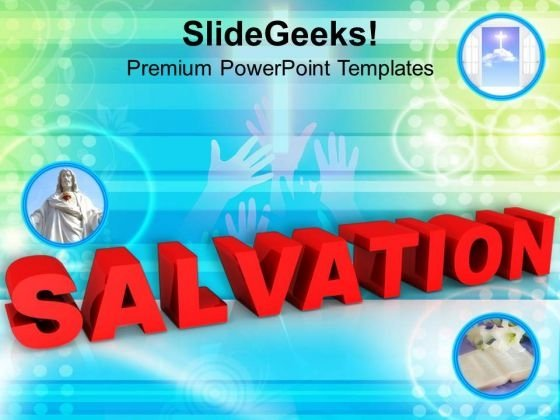 Salvation Through Jesus Communication PowerPoint Templates Ppt Backgrounds For Slides 1212