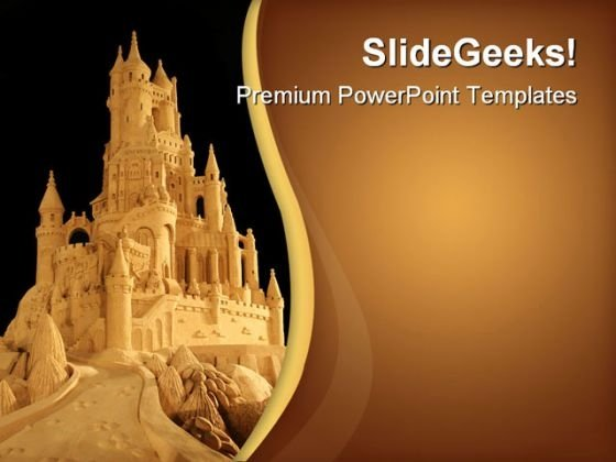 Sand Castle Architecture PowerPoint Templates And PowerPoint Backgrounds 0611