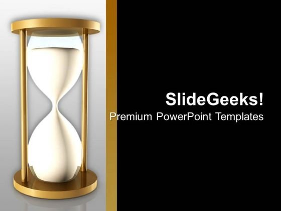 Sand Clock With Black Background PowerPoint Templates Ppt Backgrounds For Slides 0713