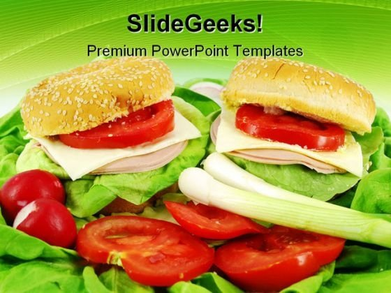 Sandwich And Salad Health PowerPoint Themes And PowerPoint Slides 0211