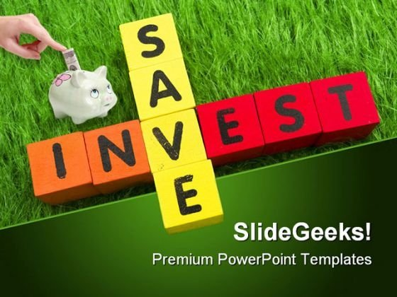 Save Invest Finance PowerPoint Template 0610