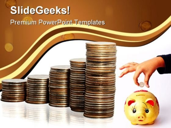 save money finance powerpoint backgrounds and templates 1210, Modern powerpoint