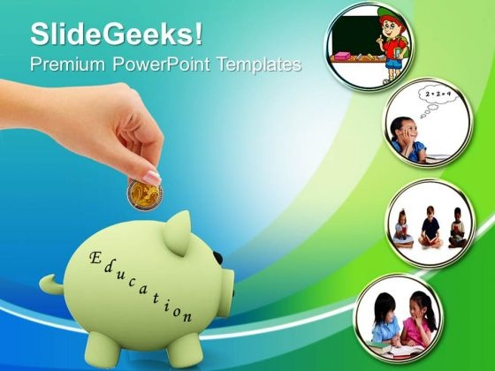 Save Money For Education PowerPoint Templates And PowerPoint Themes - Saving powerpoint templates