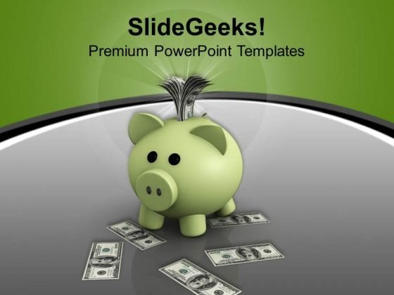 Save Money For Future Finance PowerPoint Templates And PowerPoint Themes 1012