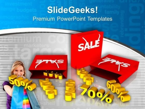 Save Money In Sale Season With Discount PowerPoint Templates Ppt Backgrounds For Slides 0513