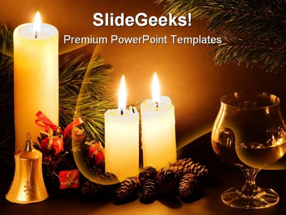 Scene Christmas PowerPoint Template 0610