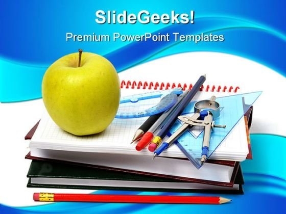 School Accessories Education PowerPoint Backgrounds And Templates 1210