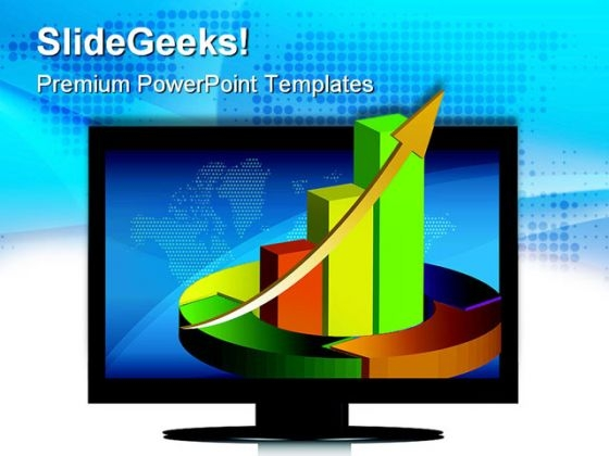 Screen Showing Business Graph Sales PowerPoint Themes And PowerPoint Slides 0411