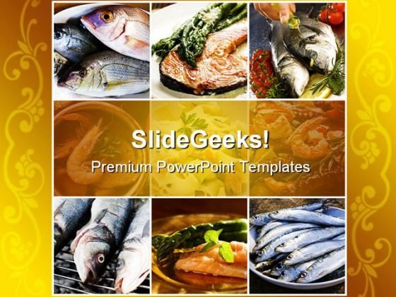 Seafood Health PowerPoint Templates And PowerPoint Backgrounds 0811