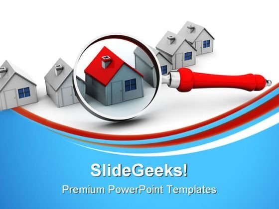 Search For Home Real Estate PowerPoint Templates And PowerPoint Backgrounds 0911