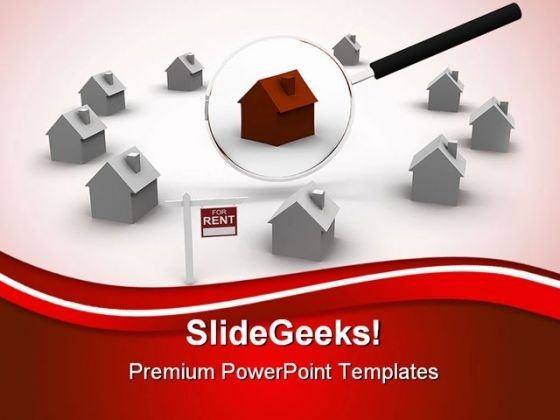 Search For Rent House Real Estate PowerPoint Themes And PowerPoint Slides 0411